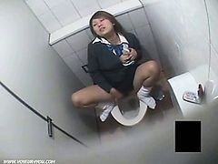 Masturbation Oil Uniform Voyeur Toilet