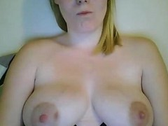 Hot Blonde Slut Milf Big Tits Smoking And Cumming On Webcam