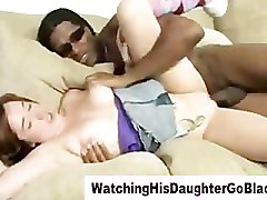 girls watch guy jerking