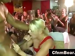 Blonde Black Cfnm Party Strip