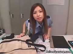 Asian Blowjob Office Police