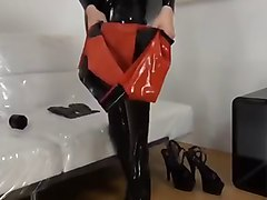 Fetish Rubber Latex Doll Dress