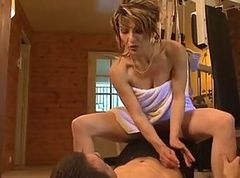 Anal French Milf Gym
