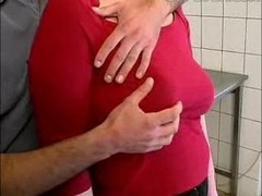 busty mom in kitchen