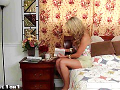 Blonde Housewife Wife Titjob