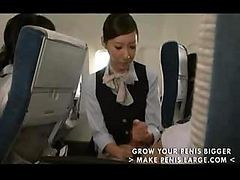 asian stewardess gets fucked on the plane