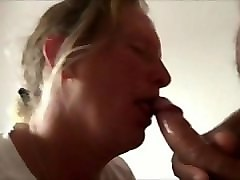 amateur milf sucking his cock and he loves it
