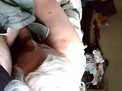 granny loves to suck old man's cock !