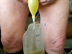 bonded cock fucking a very tight rubber pussy
