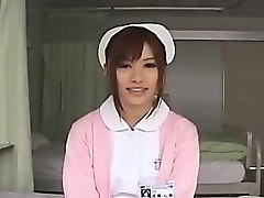 wild asian nurse in white stockings is on the prowl for hot