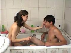 Bath Teen Cute