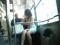 Bus French Upskirt