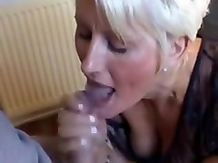 german milf jerks son's cock