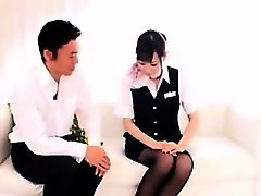 Asian Stewardess Shy