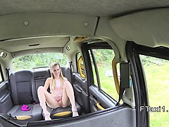 sixtynine oral sex in fake taxi in public