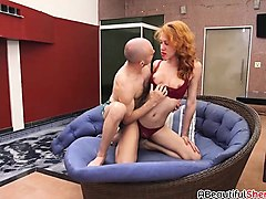Blowjob Ass Shemale Redhead