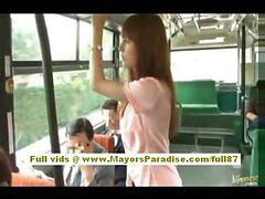 Asian Bus Hairy Babe Teen