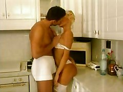 i fuck the mature maid in the kitchen