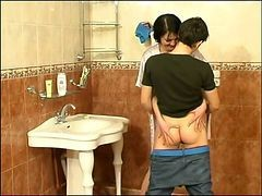 guy and matures in bathroom
