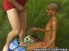 Amateur Black Girlfriend Outdoor